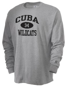 Cuba Middle School Wildcats  Russell Men's Long Sleeve T-Shirt