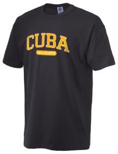 Cuba Middle School Wildcats  Russell Men's NuBlend T-Shirt