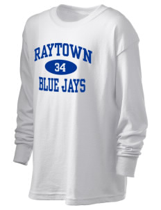 Raytown High School Blue Jays Kid's 6.1 oz Long Sleeve Ultra Cotton T-Shirt