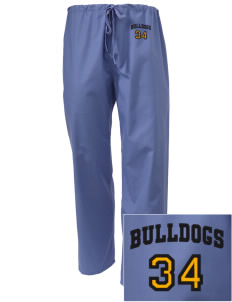 Central Elementary School Bulldogs Embroidered Scrub Pants