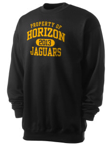 Horizon Middle School Jaguars Men's 7.8 oz Lightweight Crewneck Sweatshirt