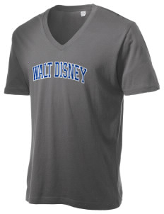 Walt Disney Elementary School Dolphins Alternative Men's 3.7 oz Basic V-Neck T-Shirt
