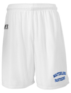 "Waterloo School Panthers  Russell Men's Mesh Shorts, 7"" Inseam"