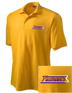 Robison Middle School Angels Embroidered Men's Jersey Polo