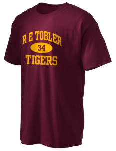 R E Tobler Elementary School Tigers Hanes Men's 6 oz Tagless T-shirt