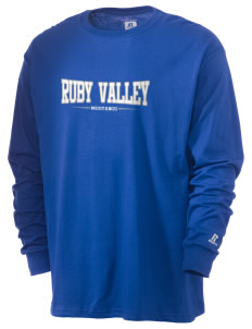 Ruby Valley Elementary School Mustangs  Russell Men's Long Sleeve T-Shirt