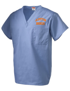 Austin High School Broncos V-Neck Scrub Top