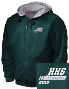 Hug High School Hawks Embroidered Holloway Men's Hooded Jacket
