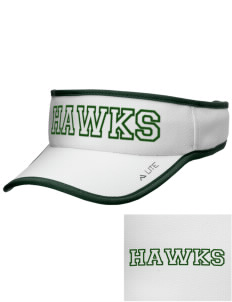 Hug High School Hawks Embroidered Lite Series Active Visor