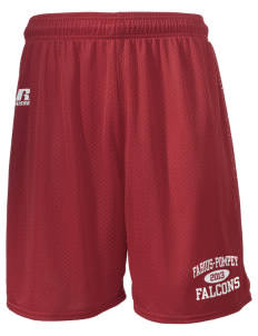 "Fabius-Pompey MiddleHigh School Falcons  Russell Men's Mesh Shorts, 7"" Inseam"