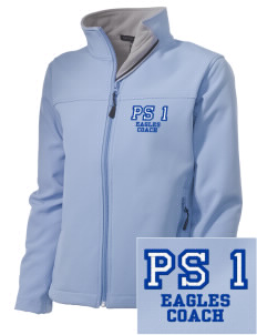 PS 1 Tottenville Eagles Embroidered Women's Soft Shell Jacket