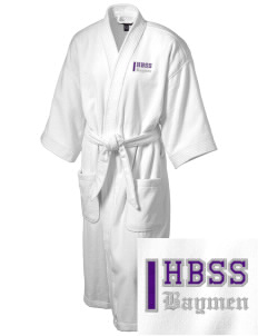 Hampton Bays Secondary School Baymen Embroidered Terry Velour Robe