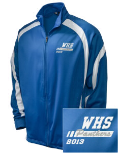 Wallkill High School Panthers Embroidered Holloway Men's Tricotex Warm Up Jacket