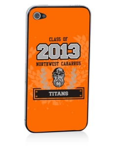 Northwest Cabarrus Middle School Titans Apple iPhone 4/4S Skin