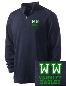 Woodrow Wilson Elementary School Eagles Embroidered Nike Men's Golf Heather Cover Up