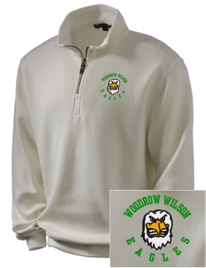 Woodrow Wilson Elementary School Eagles Embroidered Men's 1/4-Zip Sweatshirt