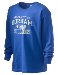 Durham School Bulldogs Kid's 6.1 oz Long Sleeve Ultra Cotton T-Shirt