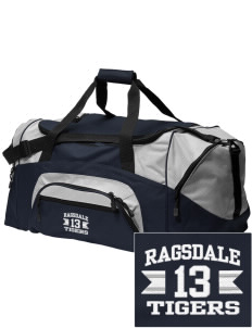 Ragsdale High School Tigers Embroidered Colorblock Duffel Bag