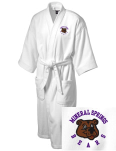 Mineral Springs Elementary School Bears Embroidered Terry Velour Robe