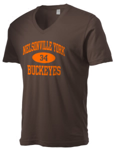 Nelsonville York Elementary School Buckeyes Alternative Men's 3.7 oz Basic V-Neck T-Shirt