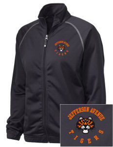 Jefferson Avenue Elementary School Tigers Embroidered Holloway Women's Attitude Warmup Jacket