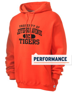 Jefferson Avenue Elementary School Tigers Russell Men's Dri-Power Hooded Sweatshirt