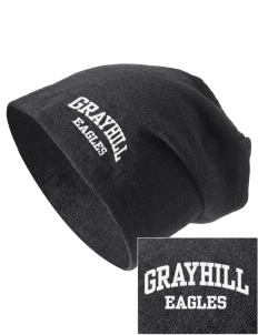 Grayhill Elementary School Eagles Embroidered Slouch Beanie