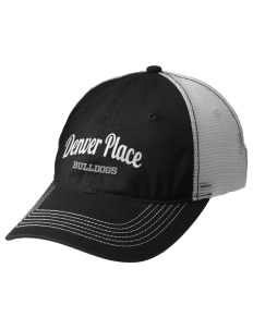 Denver Place Elementary School Bulldogs Embroidered Mesh Back Cap