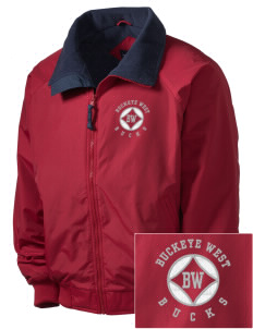 Buckeye West Elementary School Bucks Embroidered Men's Fleece-Lined Jacket