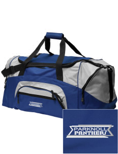 Parknoll Elementary School Panthers Embroidered Colorblock Duffel Bag