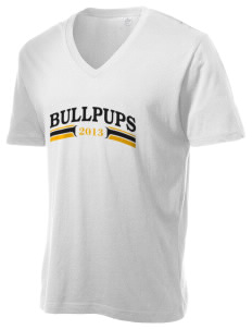 C O Wilson Middle School Bullpups Alternative Men's 3.7 oz Basic V-Neck T-Shirt