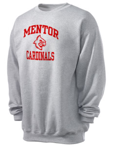Mentor High School Cardinals Men's 7.8 oz Lightweight Crewneck Sweatshirt