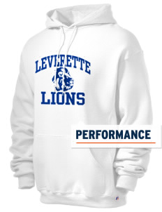 Leverette Junior High School Lions Russell Men's Dri-Power Hooded Sweatshirt