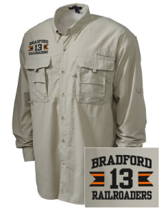 Bradford High School Railroaders Embroidered Men's Explorer Shirt with Pockets