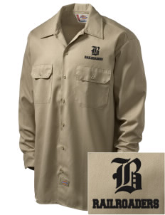 Bradford High School Railroaders Embroidered Dickies Men's Long-Sleeve Workshirt
