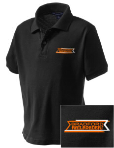 Bradford High School Railroaders Embroidered Kid's Silk Touch Polo