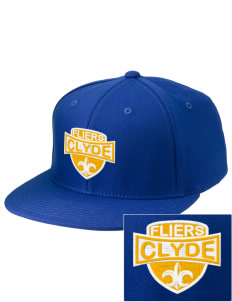 Clyde High School Fliers Embroidered Diamond Series Fitted Cap