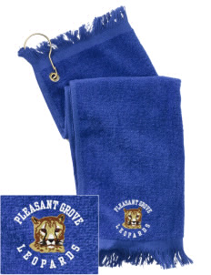 Pleasant Grove Elementary School Leopards  Embroidered Grommeted Finger Tip Towel