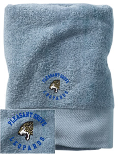 Pleasant Grove Elementary School Leopards Embroidered Zero Twist Resort Towel