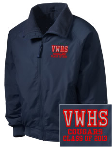 Van Wert High School Cougars Embroidered Men's Fleece-Lined Jacket
