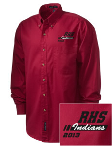 Rittman High School Indians Embroidered Men's Twill Shirt