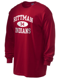 Rittman High School Indians 6.1 oz Ultra Cotton Long-Sleeve T-Shirt