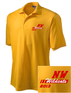 Northwest 6th Grade Center Wildcats Embroidered Men's Jersey Polo