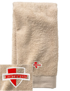 Northwest 6th Grade Center Wildcats  Embroidered Zero Twist Resort Hand Towel