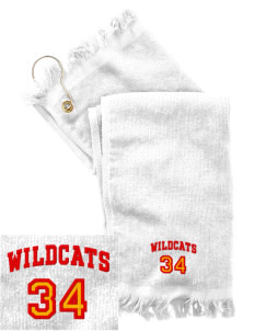 Northwest 6th Grade Center Wildcats  Embroidered Grommeted Finger Tip Towel