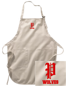 Plainview Elementary School Wolves Embroidered Full-Length Apron with Pockets