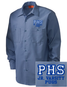 Paoli High School Pugs Embroidered Men's Industrial Work Shirt - Regular