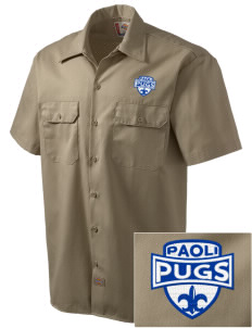 Paoli High School Pugs Embroidered Dickies Men's Short-Sleeve Workshirt