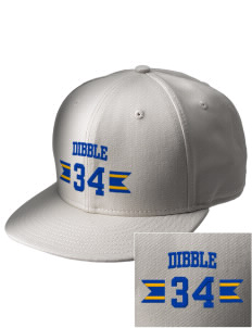 Dibble Senior High School Demons  Embroidered New Era Flat Bill Snapback Cap
