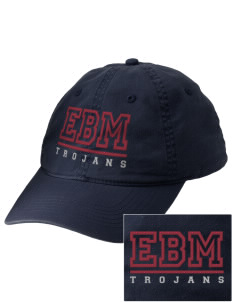 Edna Bigham Mays Elementary School Trojans Embroidered Vintage Adjustable Cap